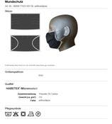 HB Mund-/Nasenschutzmaske Habetex® Micronselect wiederverwendbar mit Gummibändern