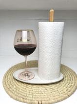 Kuechenrollenhalter mit Keramikteller