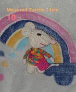 Maus mit Tasche 14 cm