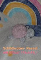 Schildkröten- rassel mit Glitzer 11 cm