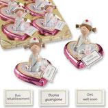 Porzellan-Krankenschwester auf Pralinenherz