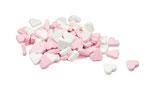 Mini Pfefferminzherzen Rosa-Weiß 250 g