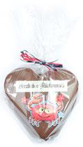 Hamburger Speck Herz mit Aufleger und Schokoladenfigur