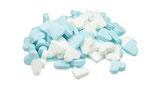 Mini Pfefferminzherzen Blau-Weiß 250 g