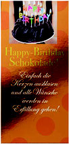 Happy-Birthday - Schokolade 100 g