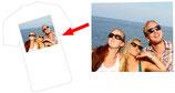 T-Shirt weiß mit eigenem MOTIV