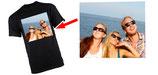 T-Shirt schwarz mit eigenem MOTIV