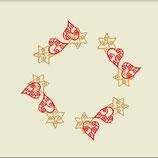 """Weihnachtsdecke """"Rot und Gold"""""""