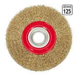 H7-06978 feine Scheibenbürste Drahtbürste Zopfbürste zum Reinigen Ø 125 mm