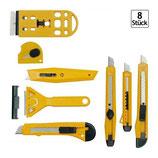E2-76280 Satz 8 tlg Cuttermesser, Teppichmesser, Schaber