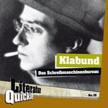 3/15 Klabund, Das Schreibmaschinenbureau