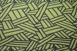 Canvas grafisch gemustert gelb dunkelgrau