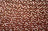 Musselin bedruckt Regenbögen terra