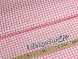 Baumwolldruck Karo Rosa 270cm breit