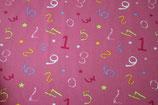 Baumwolle Zahlen Rosa Pink