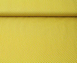 Baumwolldruck Sterne senfgelb/weiß