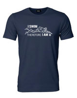 Herren T-Shirt I SWIM THEREFORE I AM
