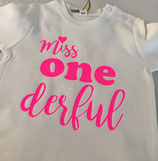 Baby Shirt Miss ONE derful