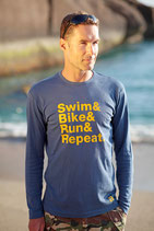 DER KLASSIKER! Herren T-Shirt SWIM BIKE RUN & REPEAT