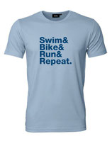UNSER KLASSIKER! Herren T-Shirt SWIM BIKE RUN & REPEAT