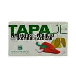 Tapa von Piquillo Peperoni mit Kombu Zucker Algen