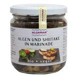 Algen und Shiitake in Marinade