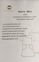 Retro Mini Kleid / Papierschnitt