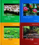 RESTAUFLAGE:  Vier Bild-Geschenkbändchen zum Psalm 23!!  -  ALTE AUFLAGE (Johannis) - SONDERPREIS 4,- €
