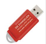 USB-Stick rot - Die Evangelien von Jesus Christus auf USB-Stick!