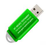 "USB-Stick grün - Die Hörbibel ""Neues Testament"" auf USB-Stick"