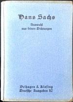 Sachs Hans, Auswahl aus feinen Dichtungen