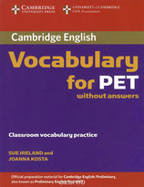 Vocabulary for PET