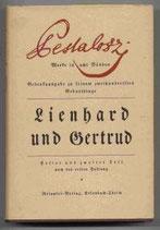 Pestalozzi Heinrich, Werke in acht Bänden - Lienhard und Gertrud