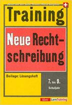 Training Neue Rechtschreibung