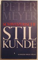 Meyer Peter, Schweizerische Stilkunde