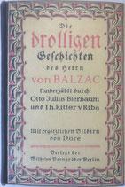 Bierbaum Otto Julius, Die drolligen Geschichten des Herrn von Balzac