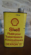 Ancien bidon fluide transmission SHELL