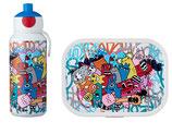 Mepal Geschenkset - Brotdose mit Trinkflasche und Lustigmacher