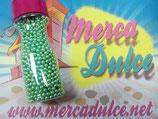 Perla metalizada verde 4mm MD