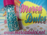Perla metalizada Plata y azul 4mm MD