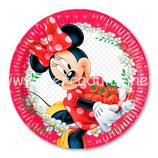 Plato Minnie Mouse Jardín 23 cm
