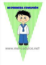 Banderín Comunion niño 05