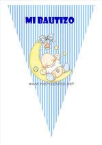 Banderín Bautizo niño 01