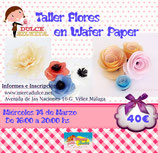 Curso Flores comestibles Wafer Paper