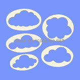 Set 5 cortantes de Nubes