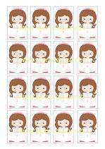 Impresión para Chocolatina niña Comunión 02
