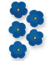 Flores de azúcar azules PME