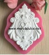 Molde silicona marco con flores