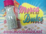 Perla metalizada Plata 3mm MD