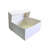 Caja blanca para tarta con tapa